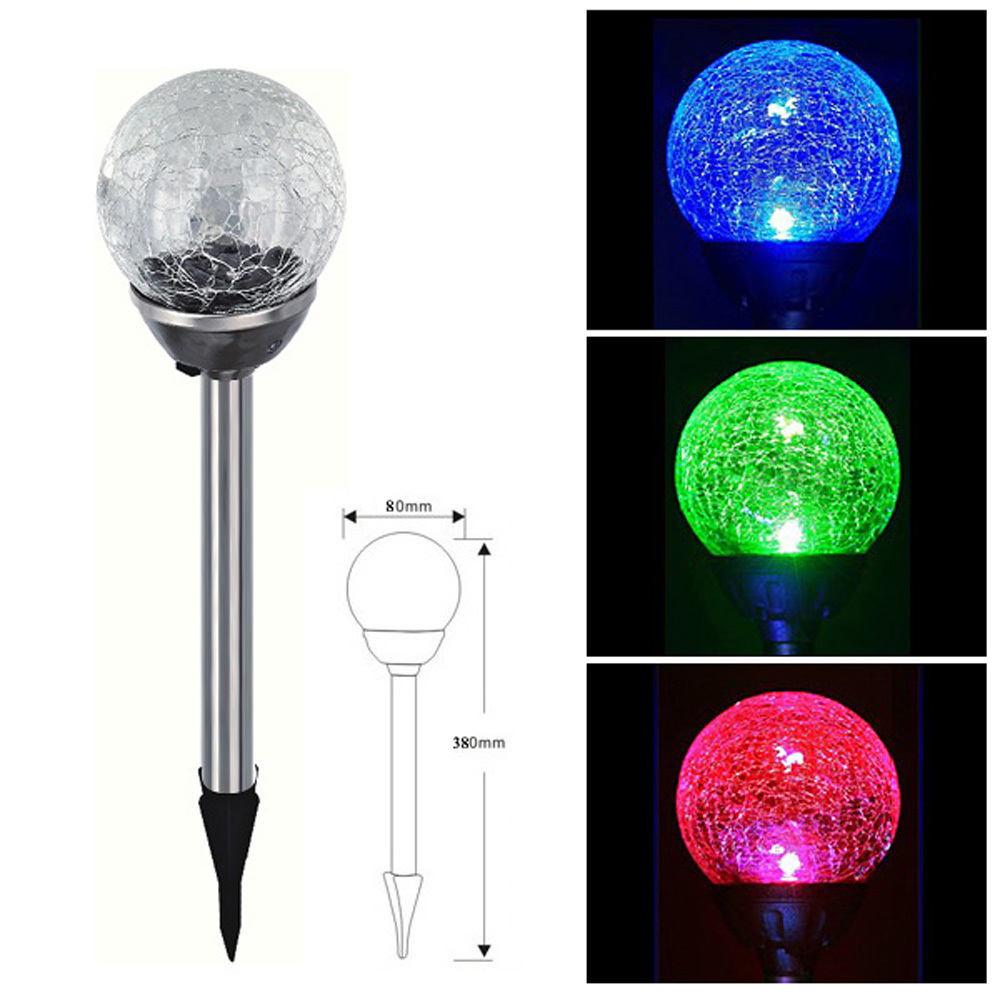 Online Buy Wholesale Solar Crackle Glass Ball Lights From