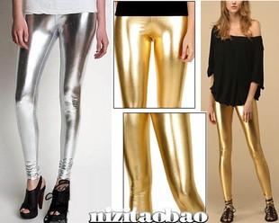 Женщины дорогой металл золото и серебро аксессуары леггинсы