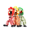 Cute Clown Marionette Childhood Educational Toys Figure Puppet Shadow Play Clown Kids Child Baby Wooden Funny