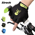 2017 Sireck Cycling Gloves Men Half Finger Pro Palm Padded MTB Road Bike Bicycle Sports Gloves