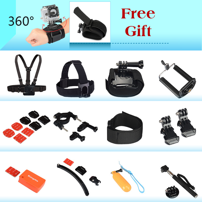 Gopro Hero Accessories Set Helmet Harness Chest Belt Head Mount Strap Go Pro