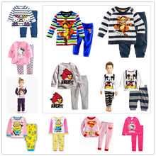 new cotton Long sleeve boy s pajamas bedgown kid s sleepcoat children s pyjamas boy s