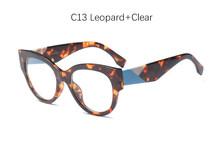 2018 очки винтажные кошачий глаз дизайнерская Фирменная оправа для очков женские модные прозрачные очки UV400(Китай)