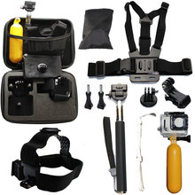 10 in 1 Value Pack GoPro Go Pro Accessories Set For Gopro Hero4 /3+/3/2 and SJ4000 SJ5000 SJ6000 and Xiomi yi Camera