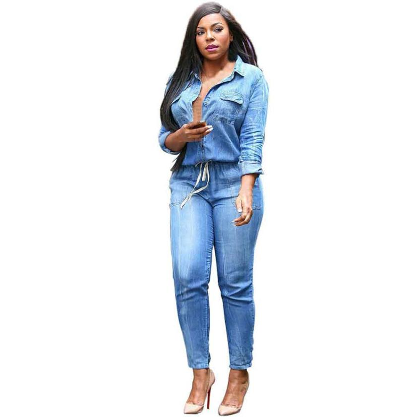 Plus-size Women's - Denim Zip Up Jogger Jumpsuit. Zip it up and jump on it! My new jogger jumpsuit redefines denim trends with a sexy sleeveless fit and ultimate comfort for you to feel confident, all day long.