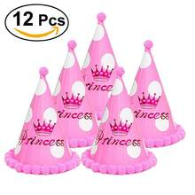 12 шт. бумажные шляпы для вечеринок, нарядное платье для девочек и мальчиков, Любимые товары для детей, для взрослых, для празднования дня рож...(Китай)