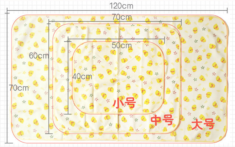Large Baby Changing Mat Bebe Baby Waterproof Changing Pad Urine Mat Cotton Waterproof Sheets For a