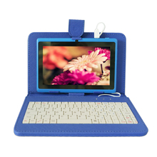 Keyboard Tablet Case/cover for 7 inch tablet PC, Universal Android Tablet Leather Flip Case Cover, Black , Free shipping