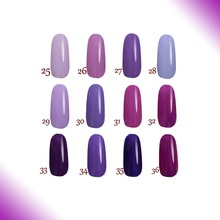 Free shipping Noble Purble series6 pcs UV FeiFan Gel Nail Polish cure in the lamp 15ml
