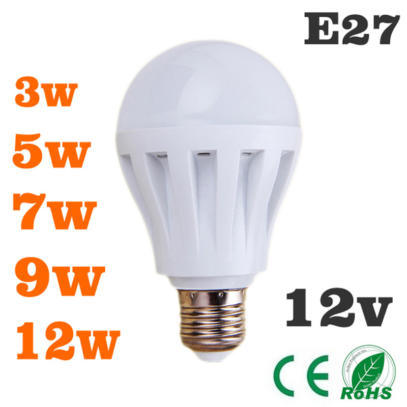 led bulbs 3w5w7w9w12w led light bulb dc 12v e27 12 volt led de luz wat lamp bulb to led bedroom. Black Bedroom Furniture Sets. Home Design Ideas