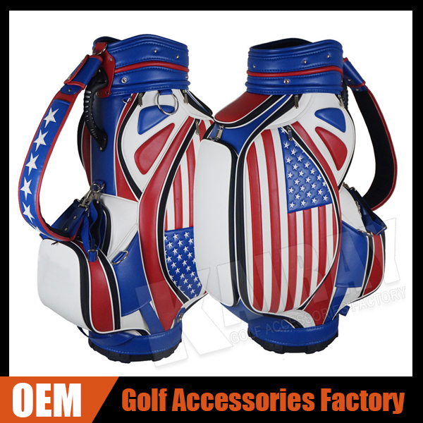 Cheap Leather Tour Staff Golf Bag Colorful stand golf bag ...