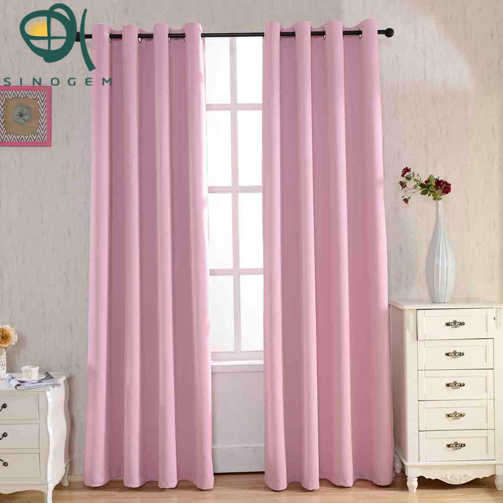 pink dyed blackout curtains for the bedroom solid color window curtains for living room modern. Black Bedroom Furniture Sets. Home Design Ideas