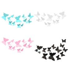 12 Pcs/Lot Butterflies 3D Wall Stickers Art DIY Home Decorations PVC Removable Decors Wedding Decorations Wall Decals Sticker