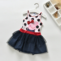 2016 cartoon nova peppa pig baby girls dress summer new baby girls short sleeve children tutu