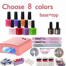 Nova chegada venda quente de verão perfeito Soak off polonês Gel ferramentas art nail conjuntos kits de unhas de Gel manicure escolher 8 cores