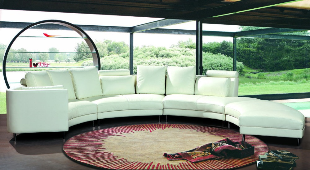Compra sofás de cuero redondo online al por mayor de China
