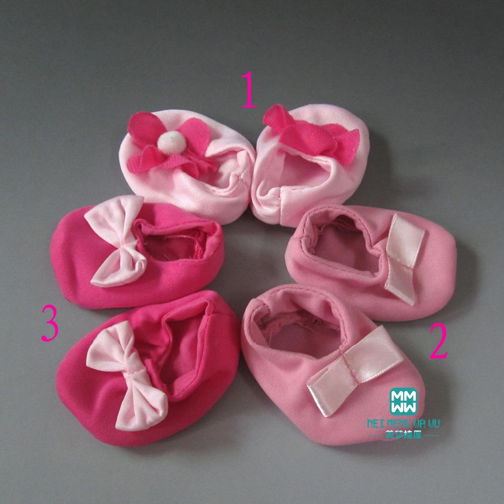 2016 new Doll Accessories MIMI Shoes 8cm 5cm Regeneration simulation baby soft soles
