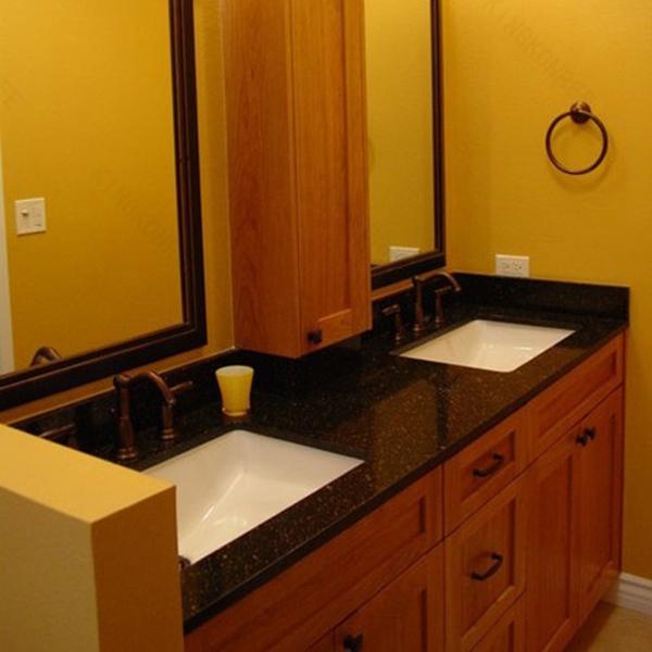 Prefabricated Bathroom Countertops: Countertop / Vanity Top,Solid Surface Prefab Bathroom