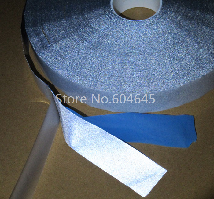 25 мм * 3 м отражательной - передачи фильм яркий серебряный упругие светоотражающие ткани ленты железа на для обеспечения безопасности дорожного полотна