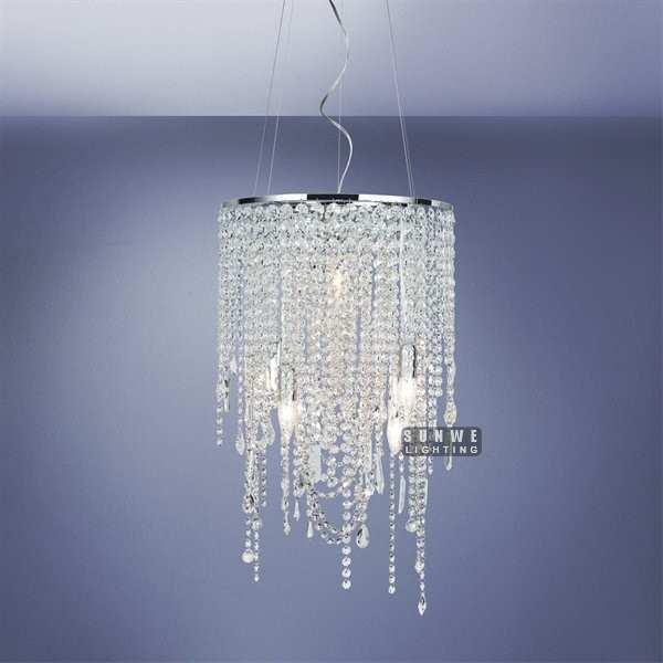 mini chrome crystal chandelier light pendant metal chandelier lamp small bedroom crystal. Black Bedroom Furniture Sets. Home Design Ideas