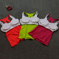 Sport bra top training bra Breathable Women Yoga Top Shirt Bra Padded Wire free inserts Yoga