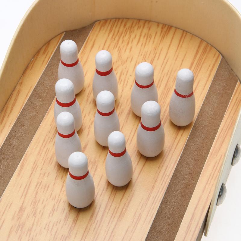 0d264b0d3dede Großhandel Großhandel Mini Lustige Desktop Bowling Spiel Set Holz ...