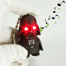 Star Wars Black Knight Darth Vader Stormtrooper LED Light With Sound PVC Action Figures Toy Children Kids Gifts Anakin Skywalker