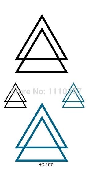 acheter mode temporaire double triangle tatouage poignet autocollant de corps. Black Bedroom Furniture Sets. Home Design Ideas