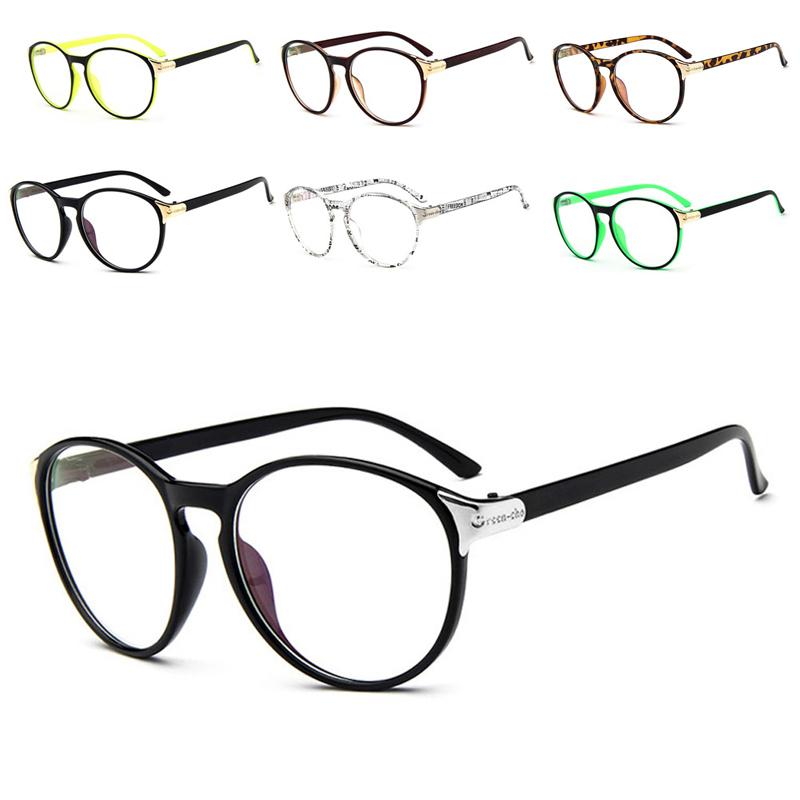 7a41de8a6d3c Unisex Stylish Glasses Vintage Clear Lens Round Frame Retro Eyeglasses