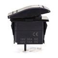 A24 1Pcs 4Pin Waterproof 12V 20A Bar Rocker Toggle Switch Blue LED Light Car Boat Blue