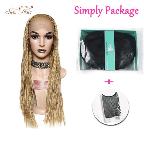 Suri волосы кружева спереди Золотой синтетический парик афро-американский Плетеный парик для женщин 26 дюймов(Китай)