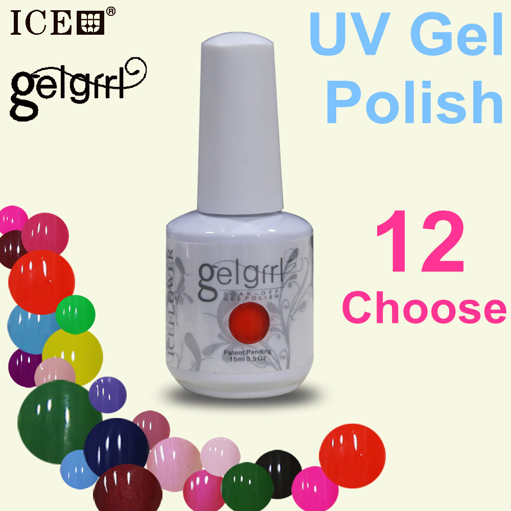 choose 12 color gel uv gel gel nail polish 30day Long Lasting 15 ML 0 5oz