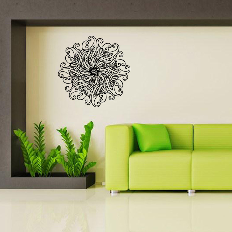 Indian buddhist art decorative wall decals stickers mandala The sitting room the bedroom home mural L