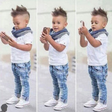 eb5a30fc0 So Cool kids clothes new designer boys clothes shorts and Jeans with scarf  children clothing set