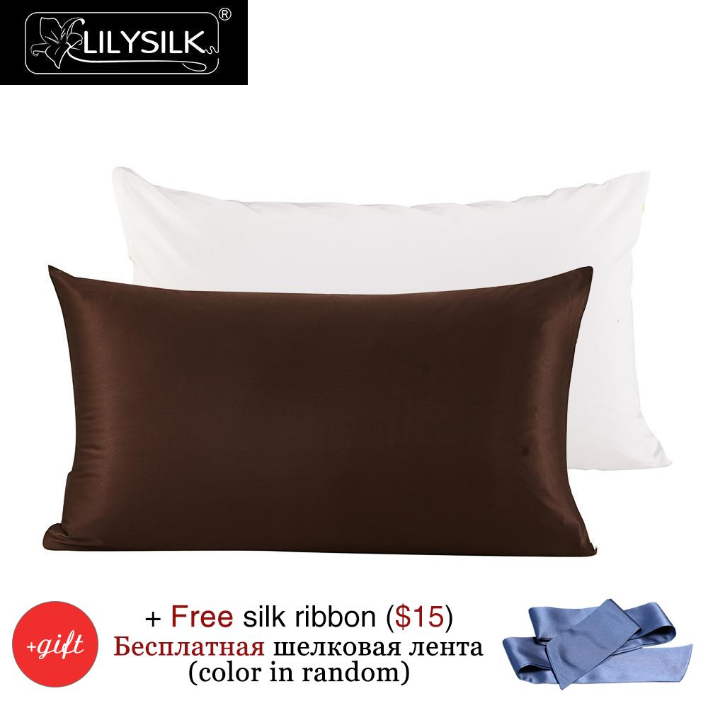 Lilysilk Mulberry Silk Cotton Pillowcase Charmeuse Satin