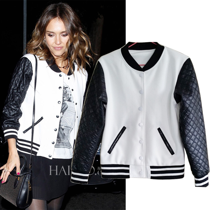 Cheap baseball jacket long, Buy Quality fashion women jacket directly from China women's fashion jackets Suppliers: Slim short women jacket contrast color spliced college baseball jackets long sleeve fashion casual autumn basci jacket.