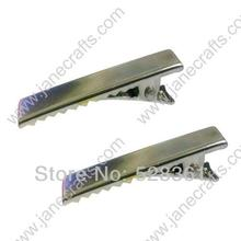 Wholesale 100 Pcs 40mm 1 1 2 Inch Rectangular Silver Alligator Boutique Hair Clips Accessories Prong