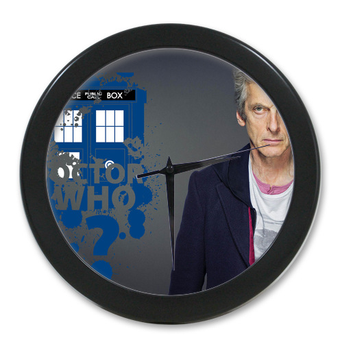 Original <font><b>Home</b></font> <font><b>Decoration</b></font> Customized Doctor Who <font><b>Elegant</b></font> Wall Clock Modern Design Watch Wall Free Shipping #-LQ055
