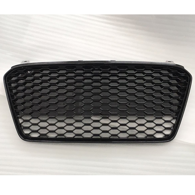 R8 RS Style ABS Black Car Front Bumper Honeycomb Mesh