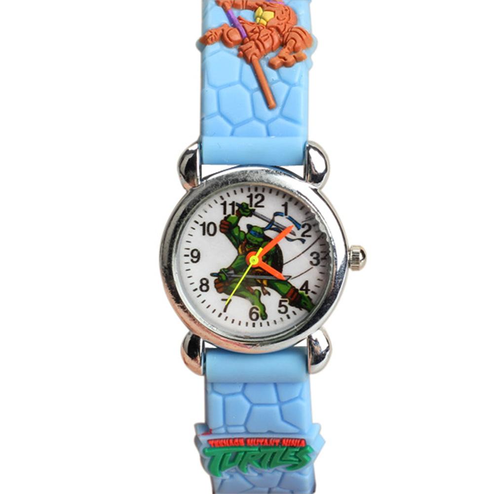 New Teenage Mutant Ninja Turtles Style Kids Watches Analog Quartz Wrist Watch Skyblue for Children HB88