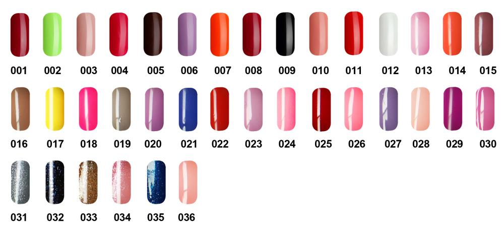 Free shipping 6pcs VOG fashion One Step Gel Polish 15ml 36 colors for choice