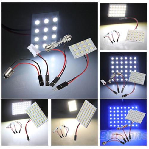 12 / 24 / 36 / 48 из светодиодов 3528 СМД автомобилей световой панели T10 фестона BA9S адаптер 027J 32KS