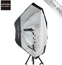 Hpusn speedlit flash light octagon camera diffuser umbrella softbox reflector 120cm Photography Photo Studio Accessories