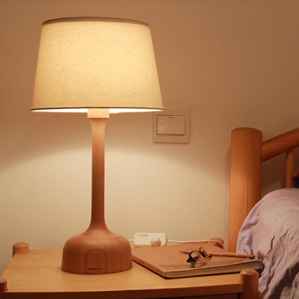 """Bedroom Lamps Black: Modern Brief DIY 20"""" Black Walnut E14 Bedroom Room Light"""
