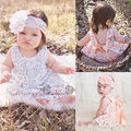 Newborn Baby Girls Clothes Sunsuit Lace Swing Tops Dress Briefs 2pcs Outfit Set