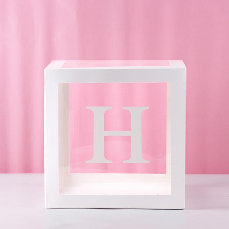 HUIRAN, прозрачная коробка с именем, для девочек и мальчиков, украшения для детского душа, для детей 2, 1, 1, 1, 1, 1, для дня рождения, Декор, подарок, п...(Китай)