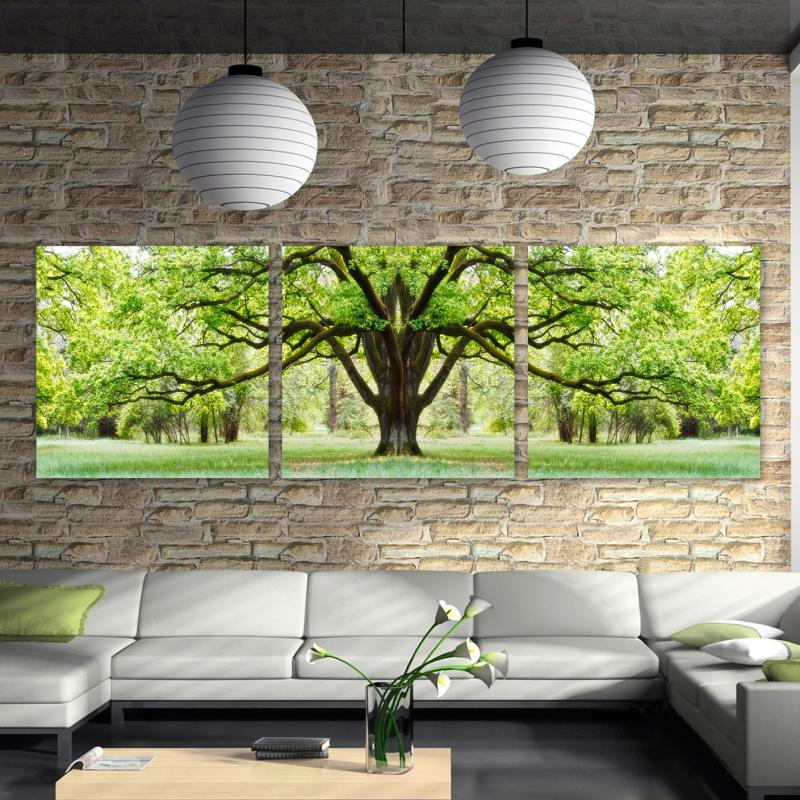 3 Pcs Hot Sell Large tree Modern Home decoration Wall Decor oil painting Canvas Art HD picture free shipping No frame SZ-O-027