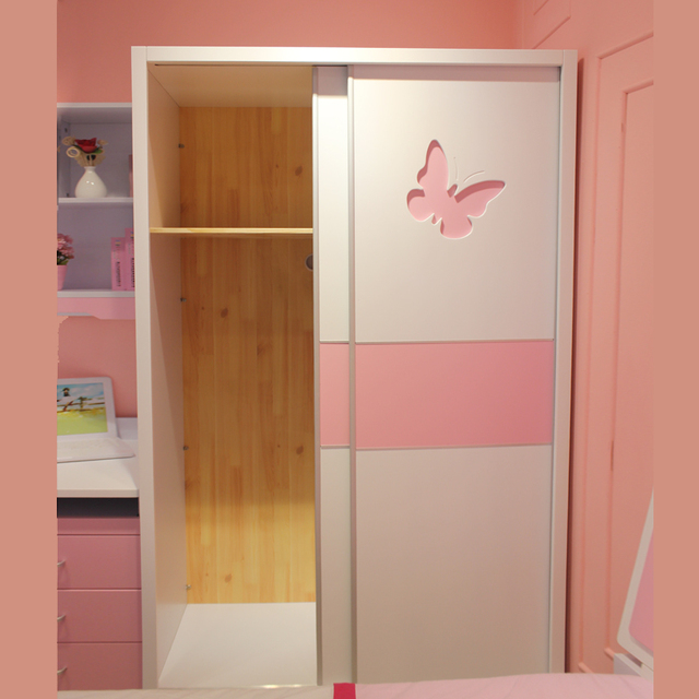 girl children princess bedroom sliding door wardrobe furniture storage wood plate wood wardrobe. Black Bedroom Furniture Sets. Home Design Ideas