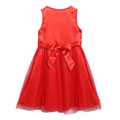 Hot Sale Cute Kids Girls Fashion O Neck Sleeveless Net Yarn Patchwork Sequins Decoration Dress