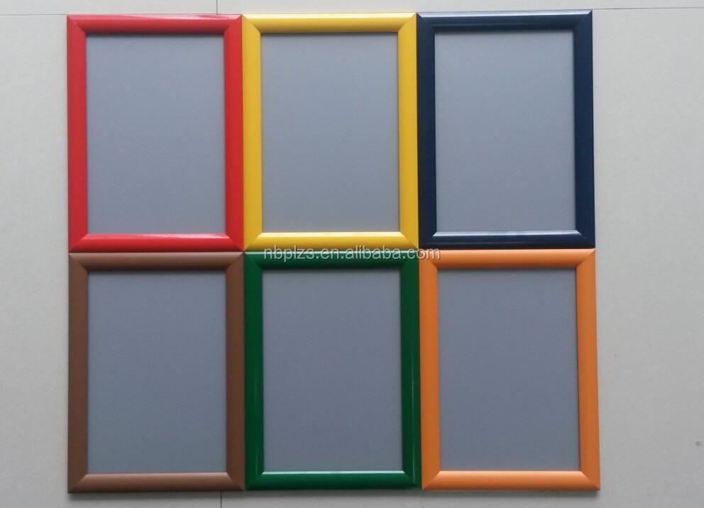 25mm en aluminium profil photo snap cadre affiche. Black Bedroom Furniture Sets. Home Design Ideas